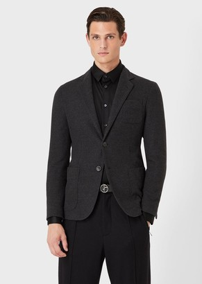 Giorgio Armani Regular-Fit, Super 180S Wool Jacket From The Upton Line