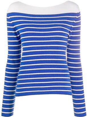 Barrie Striped Cashmere Jumper