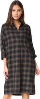 Vince Plaid Easy Pullover Dress