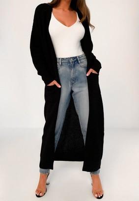 Missguided Tall Black Maxi Cardigan