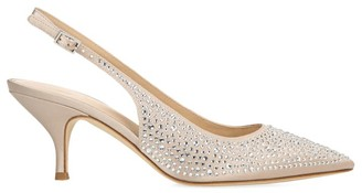 Via Spiga Madalie 2 Embellished Satin Slingback Pumps