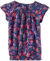 Osh Kosh Floral Smocked Top