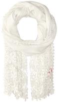 Betsey Johnson Lace Hem Day Wrap Scarves