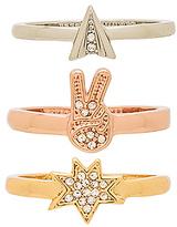 Rebecca Minkoff Charm Ring Set