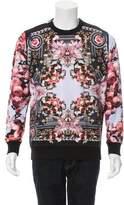 Givenchy Floral Print Crew Neck Sweatshirt