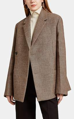 Jil Sander Women's Gabardine Wrap-Front Two-Button Blazer - Brown
