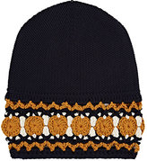 Gucci Men's Crocheted-Cuff Wool Beanie-NAVY, CREAM, YELLOW, BLUE