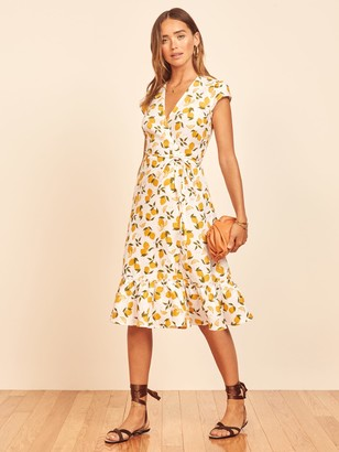Reformation Apricot Dress
