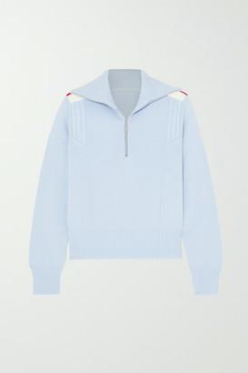 Cordova Are Striped Merino Wool Sweater - Light blue