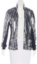 Les Chiffoniers Long Sleeve Sequin Jacket