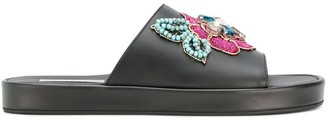 Tosca Rose Embellished Slides