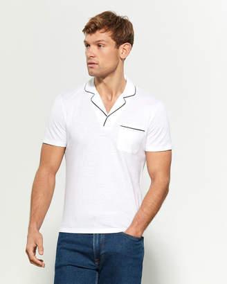 Ermenegildo Zegna Tuxedo Stripe Short Sleeve Polo