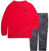 Nike Baby Girl Dri-FIT Graphic Sweatshirt & Leggings Set
