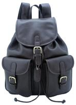 Leatherbay Dark Brown 17-inch Leather Backpack