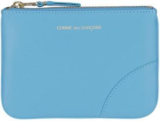 Comme des Garcons Light Blue Leather Pouch