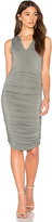 Krisa Split V Dress in Sage. - size M (also in S,XS)