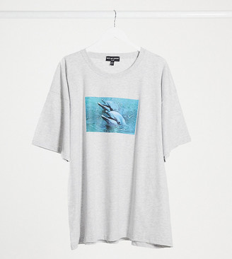 New Girl Order Curve dolphin oversized t-shirt