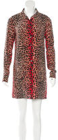 Equipment Leopard Print Silk Dress