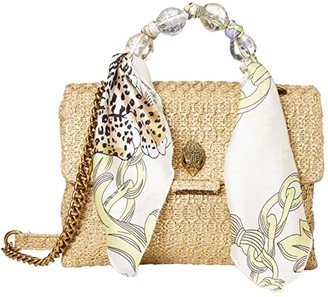 Kurt Geiger London Kensington Large Raffia (Camel/Other) Handbags