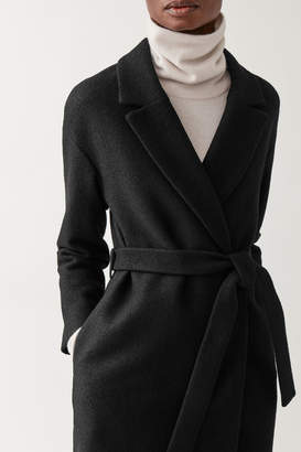 Cos OVERSIZED BELTED WOOL COAT