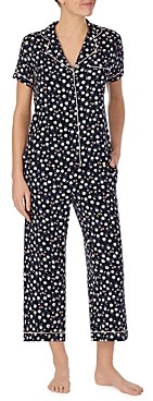 Kate Spade Printed Cropped Pajama Set