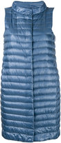 Herno mid-length padded gilet - women - Cotton/Feather Down/Polyamide/Acetate - 40
