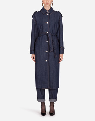 Dolce & Gabbana Denim Trench Coat