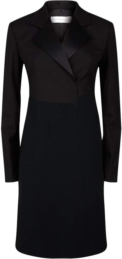 Victoria Beckham Wool Tuxedo Dress