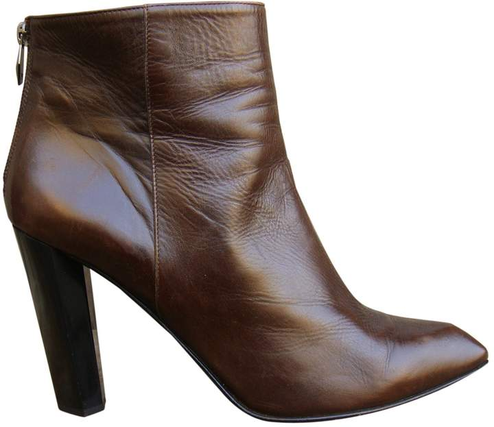 Diane von Furstenberg Brown Leather Ankle boots