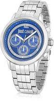 Just Cavalli Just Iron Silver Stainless Steel Men's Watch