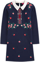 Derhy Kids Embroidered milano jersey dress with a removable collar