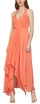 BCBGMAXAZRIA Crinkle-Chiffon Handkerchief-Hem Dress