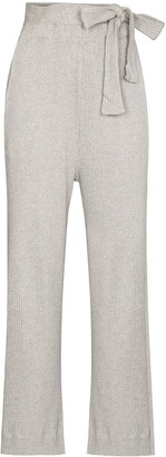Base Range Lhasa ribbed-knit trousers
