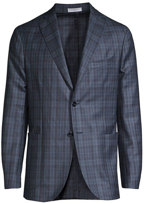 Boglioli Plaid Virgin Wool & Silk Jacket