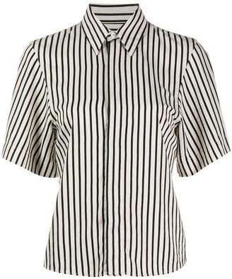 AMI Paris Striped Short-Sleeve Shirt