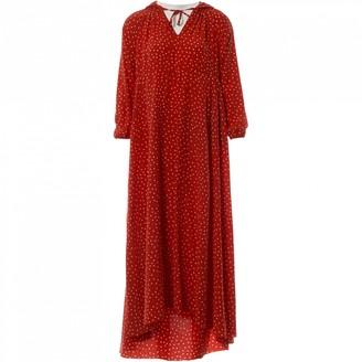 Vetements Red Silk Dresses