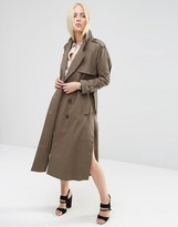 Asos Trench in Midi Length with Pocket Detail