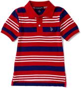 U.S. Polo Assn. Engine Red Stripe Polo - Toddler & Boys