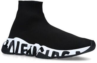 Balenciaga Graffiti Logo Speed Sneakers