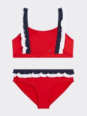 Tommy Hilfiger Ruffle Bralette Bikini Set