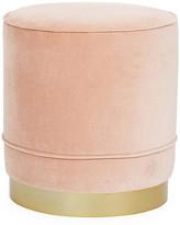 Kim Salmela Piper Stool - Blush Velvet frame, brass; upholstery, blush