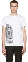 Alexander McQueen White Butterfly Skull T-Shirt