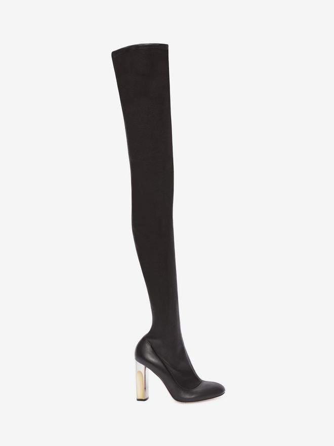 Alexander McQueen Sculpted Heel Over The Knee Boot