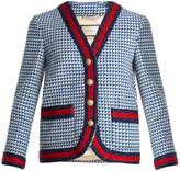 Gucci Contrast-trim wool-blend tweed jacket