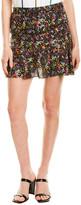 Derek Lam 10 Crosby Flounce Silk-Blend Mini Skirt