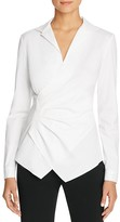 Lafayette 148 New York Odetta Tucked Faux Wrap Blouse