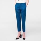 Paul Smith Women's Slim-Fit Teal Merino Wool Trousers