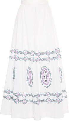 Le Sirenuse Positano Camille Embroidered Bubble Gum Skirt
