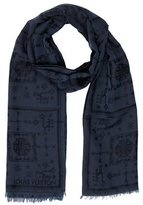 Louis Vuitton Embroidered Silk-Blend Scarf