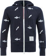 Thom Browne sharks hoodie - men - Cupro/Cotton - 1